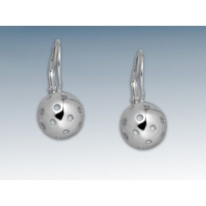SILVER FLOORBALL EARRINGS BALL (with a snap)