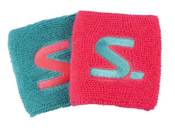 SALMING WRISTBAND 2-PACK DIVA PINK/TURQUOISE-0